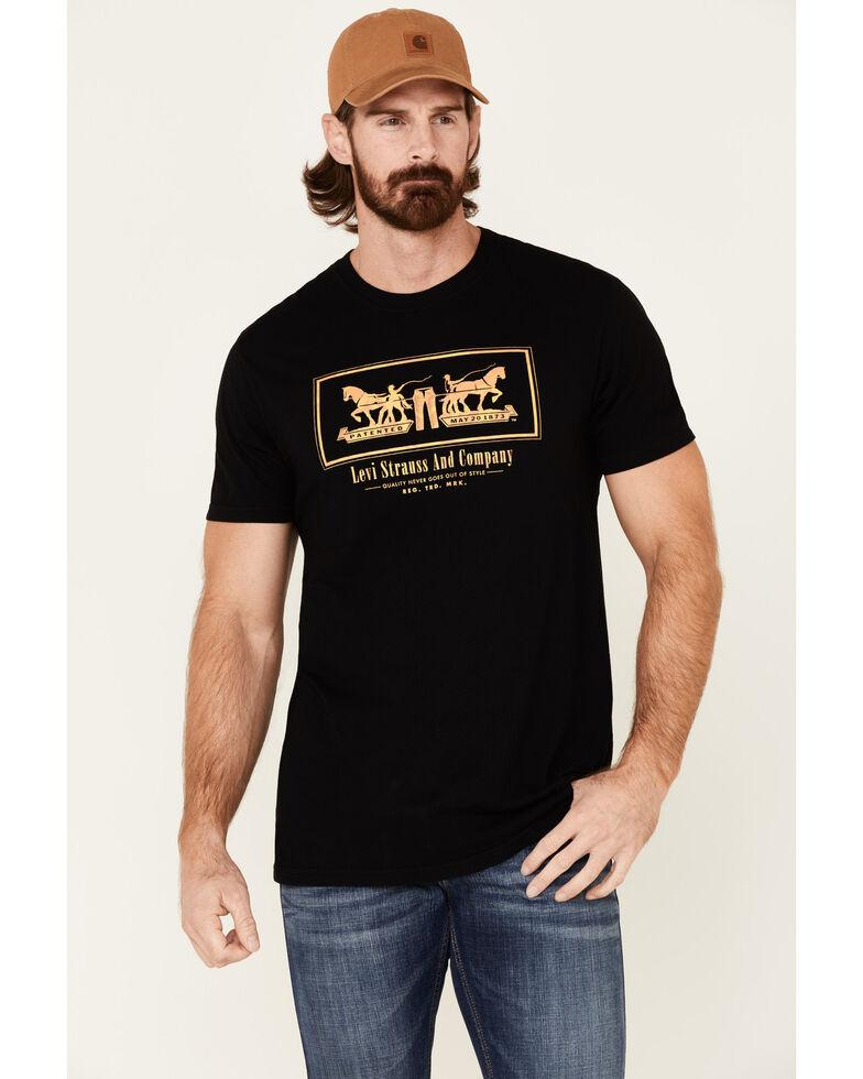 Levi's Men's Black Horse Pulling Graphic T-Shirt , Black, hi-res