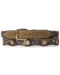 Nocona Scalloped Mossy Oak Bullet Concho Belt - Large, Mossy Oak, hi-res