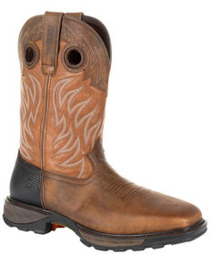 Durango Men's Maverick XP Waterproof Western Work Boots - Steel Toe, Rust Copper, hi-res