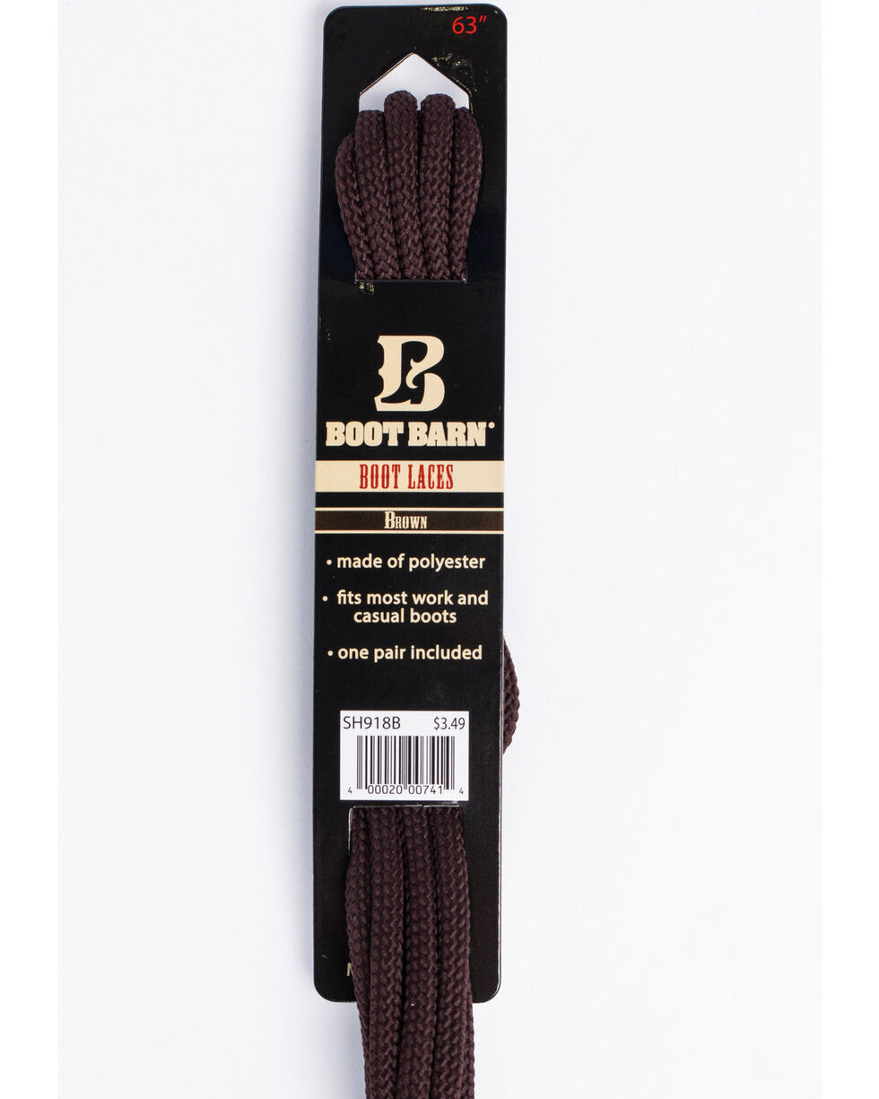 """BB Ranch 63"""" Brown Boot Laces, Brown, hi-res"""