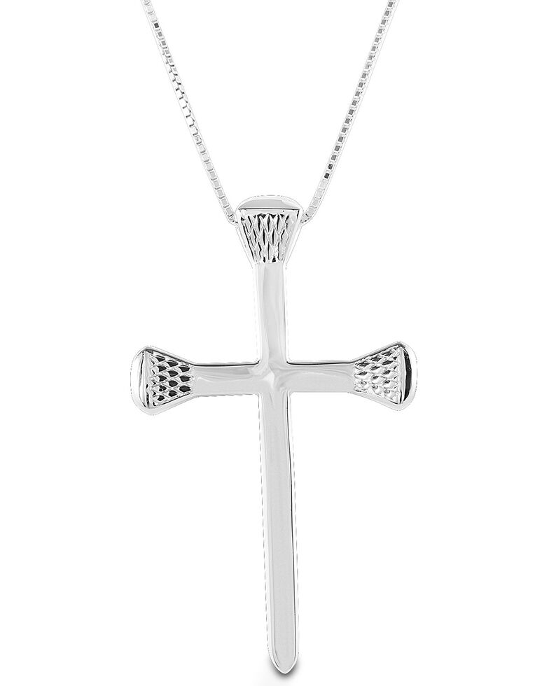 Kelly Herd Women's Horseshoe Nail Cross Necklace, Silver, hi-res