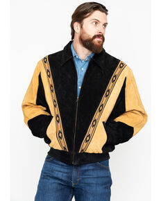 Scully Men's Two-Tone Aztec Rodeo Jacket , Black, hi-res