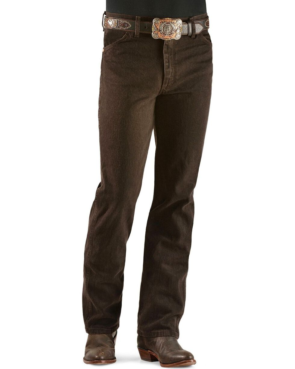 Wrangler Men's Slim Fit 936 Cowboy Cut Jeans, Chocolate, hi-res