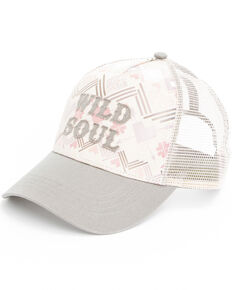 Shyanne Women's Wild Soul Screen Print Cap , White, hi-res