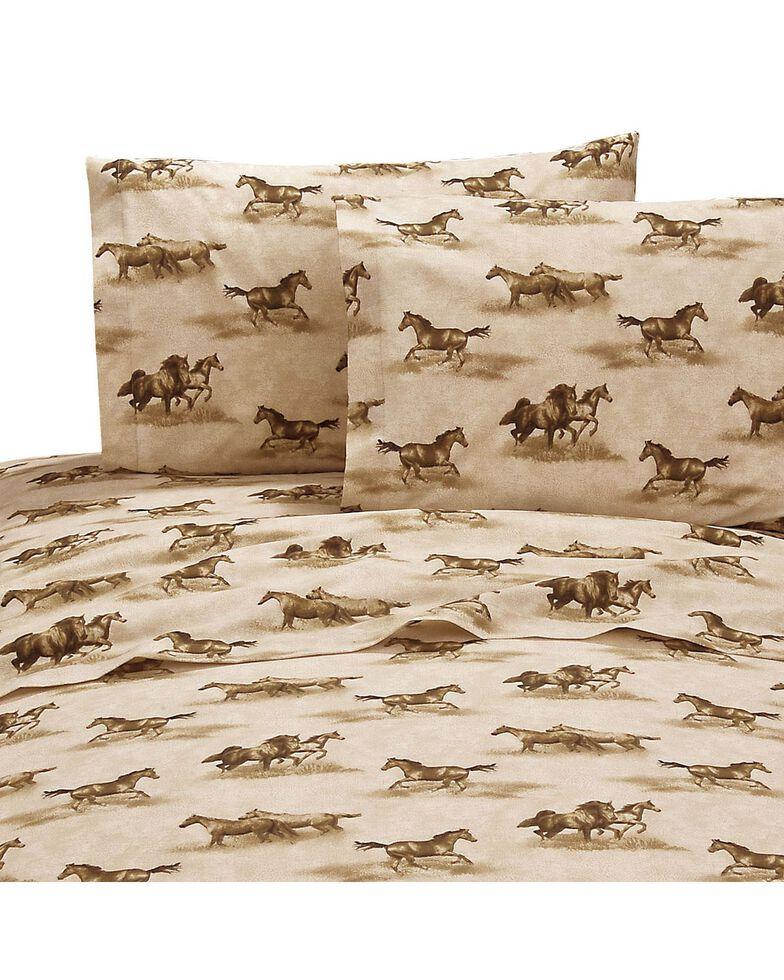 Karin Maki Wild Horses Queen Sheet Set, Brown, hi-res