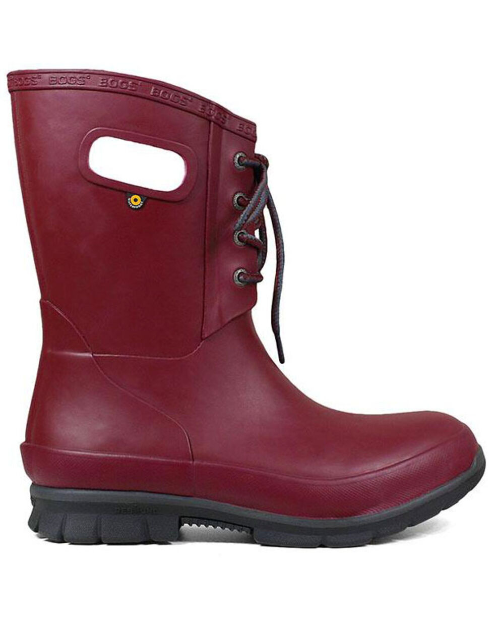 Bogs Women's Red Amanda Plush Insulated Work Boots - Round Toe, Fuscia, hi-res