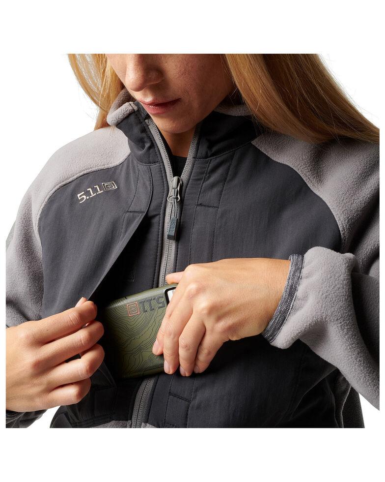 5.11 Tactical Women's Apollo Tech Fleece Jacket , Medium Grey, hi-res
