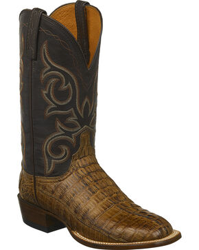 Lucchese Men's Caiman Western Boots, Brown, hi-res