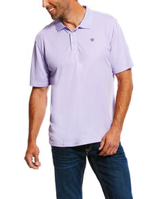 Ariat Men's Haze Drift TEK Short Sleeve Polo Shirt , Purple, hi-res