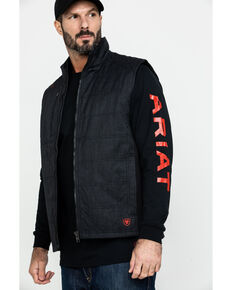 Ariat Men's FR Cloud 9 Insulated Work Vest - Big, Black, hi-res