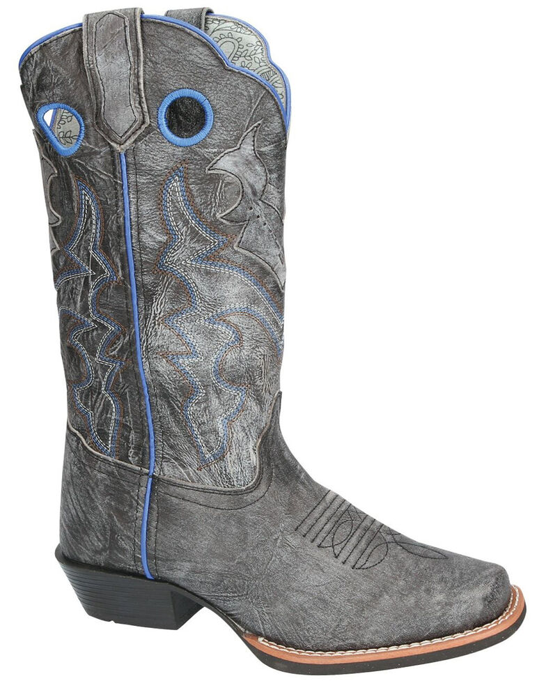 Smoky Mountain Women's Bluegrass Western Boots - Square Toe, Black, hi-res
