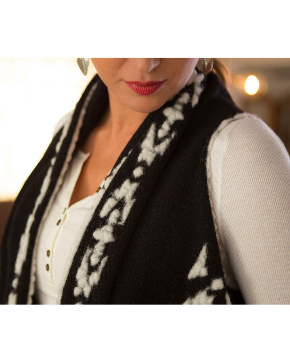 Ryan Michael Women's Black Headdress Handkerchief Shawl, Black, hi-res