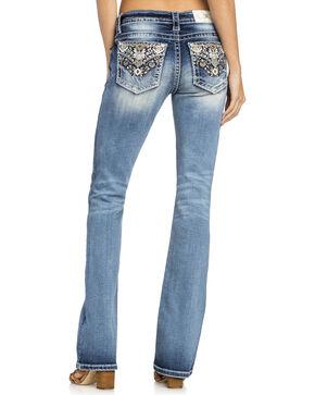 Miss Me Women's Aztec Boot Cut Jeans, Indigo, hi-res