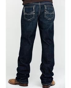 Cinch Men's Grant Dark Stone Dark Relaxed Bootcut Jeans , Indigo, hi-res