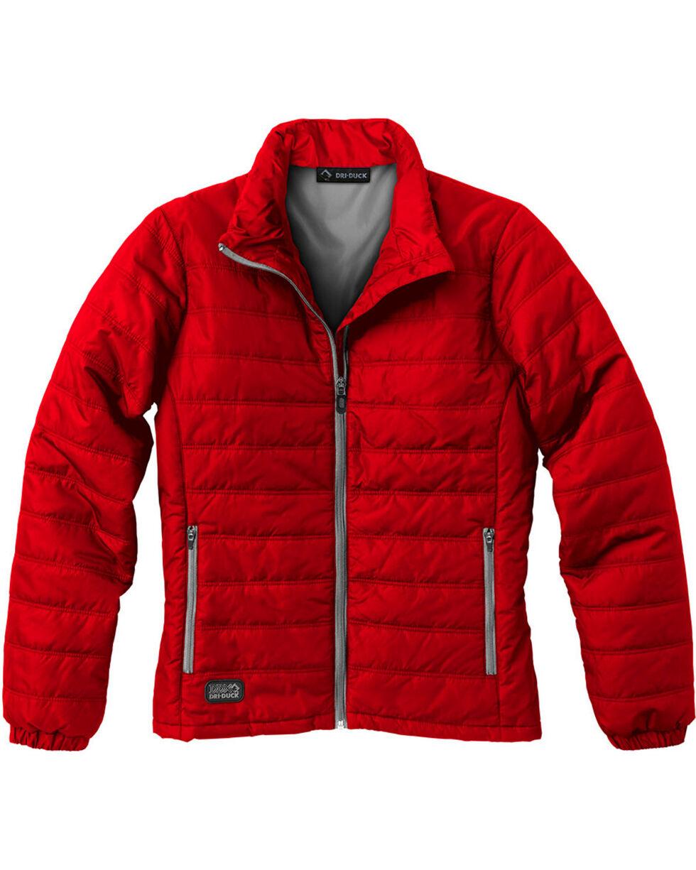 Dri Duck Women's Belay Therma Puff Jacket, Red, hi-res