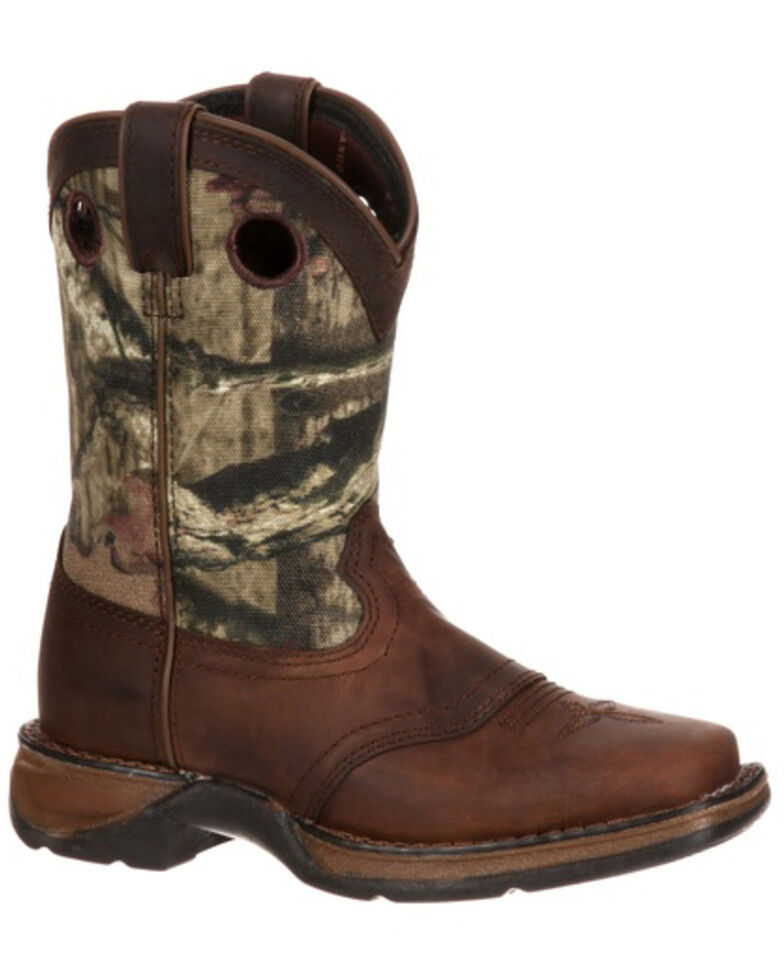 Durango Boys' Camo Saddle Western Boots - Square Toe, , hi-res