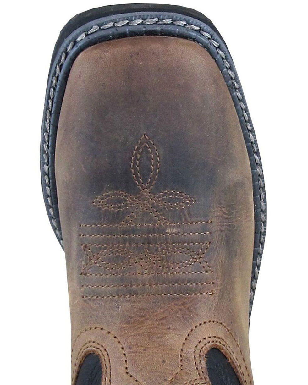 Smoky Mountain Boys' Stampede Western Boots - Square Toe, Brown, hi-res