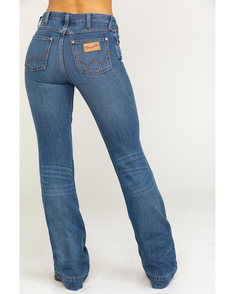 Wrangler Modern Women's Heritage Midtown Exaggerated Boot Jeans, Medium Blue, hi-res