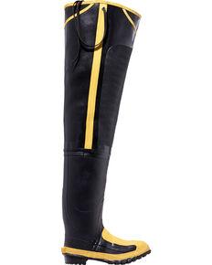 "Lacrosse Men's 32"" Steel Toe Met Guard Hip Boots, Black, hi-res"