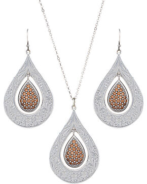 Montana Silversmiths Champagne Spark Jewelry Set, Silver, hi-res