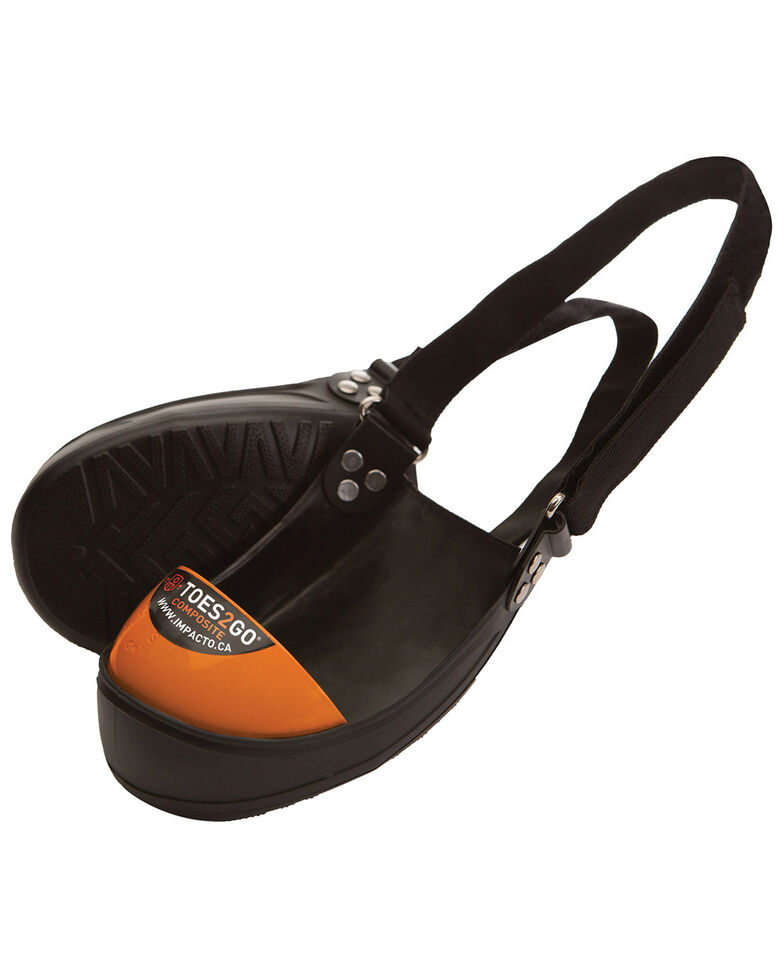 Impacto Toes2Go Composite Toe Cap - Small , Black/orange, hi-res