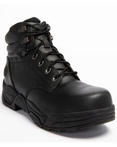 Hawx Men's Black Enforcer Lace-Up Work Boots - Nano Composite Toe, Black, hi-res