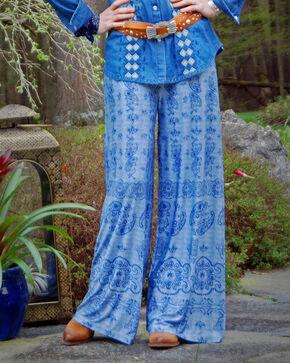 Tasha Polizzi Women's Bandana Print Pants , Blue, hi-res