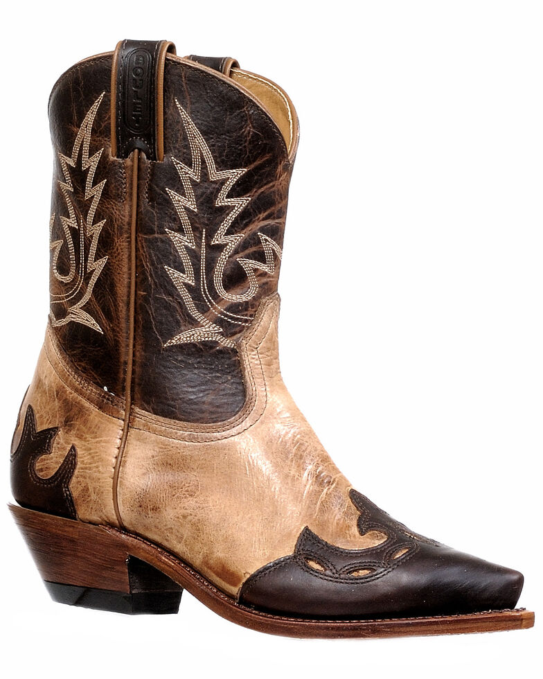 Boulet Women's Taupe Western Booties - Snip Toe, Taupe, hi-res