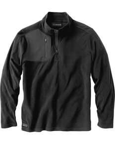 Dri Duck Men's Interval Quarter-Zip Fleece Pullover - Big, Black, hi-res