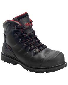 "Avenger Men's 6"" Waterproof Work Boots - Composite Toe, Black, hi-res"