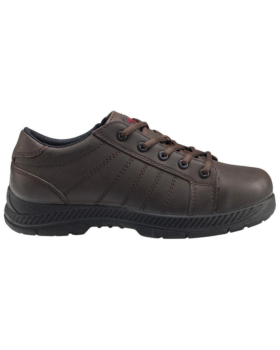 Avenger Men's Slip Resistant Oxford Work Shoes - Steel Toe, Brown, hi-res