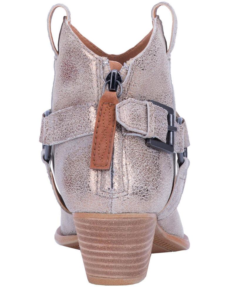 Dingo Women's Gold Keepsake Braided Harness Fashion Booties - Round Toe, , hi-res