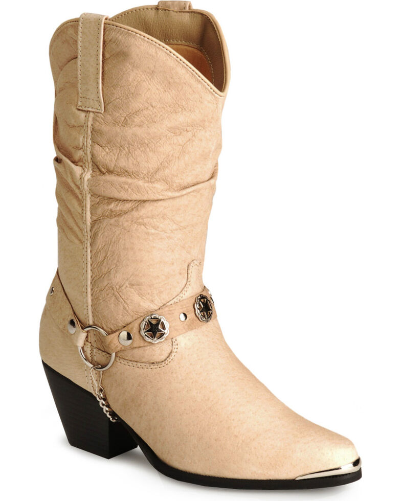 Dingo Women's Bailey Western Boots, Tan, hi-res