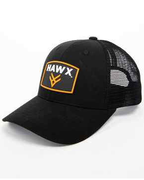 Hawx Men's Black Patch Logo Trucker Cap, Black, hi-res