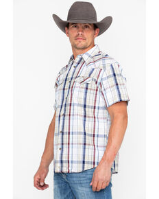 Moonshine Spirit Men's Ol' Mexico Dobby Plaid Short Sleeve Western Shirt , Multi, hi-res