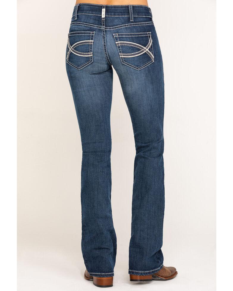 Ariat Women's Medium R.E.A.L. Arrow Fit Shayla Bootcut Jeans, Blue, hi-res