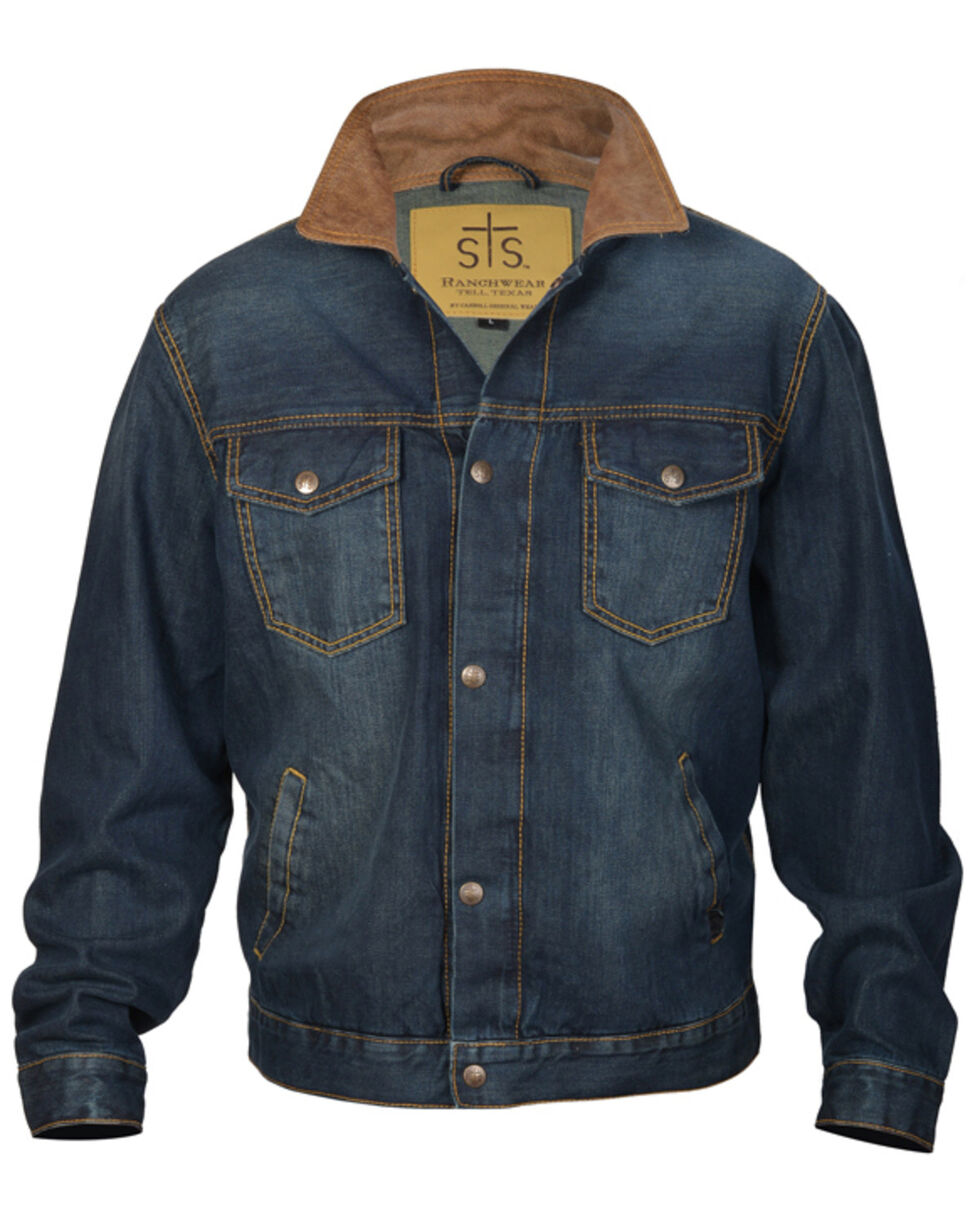 STS Ranchwear Boys' Youth Jumper Denim Jacket , Brown, hi-res