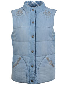 STS Ranchwear Women's Mesa Denim Vest, Blue, hi-res