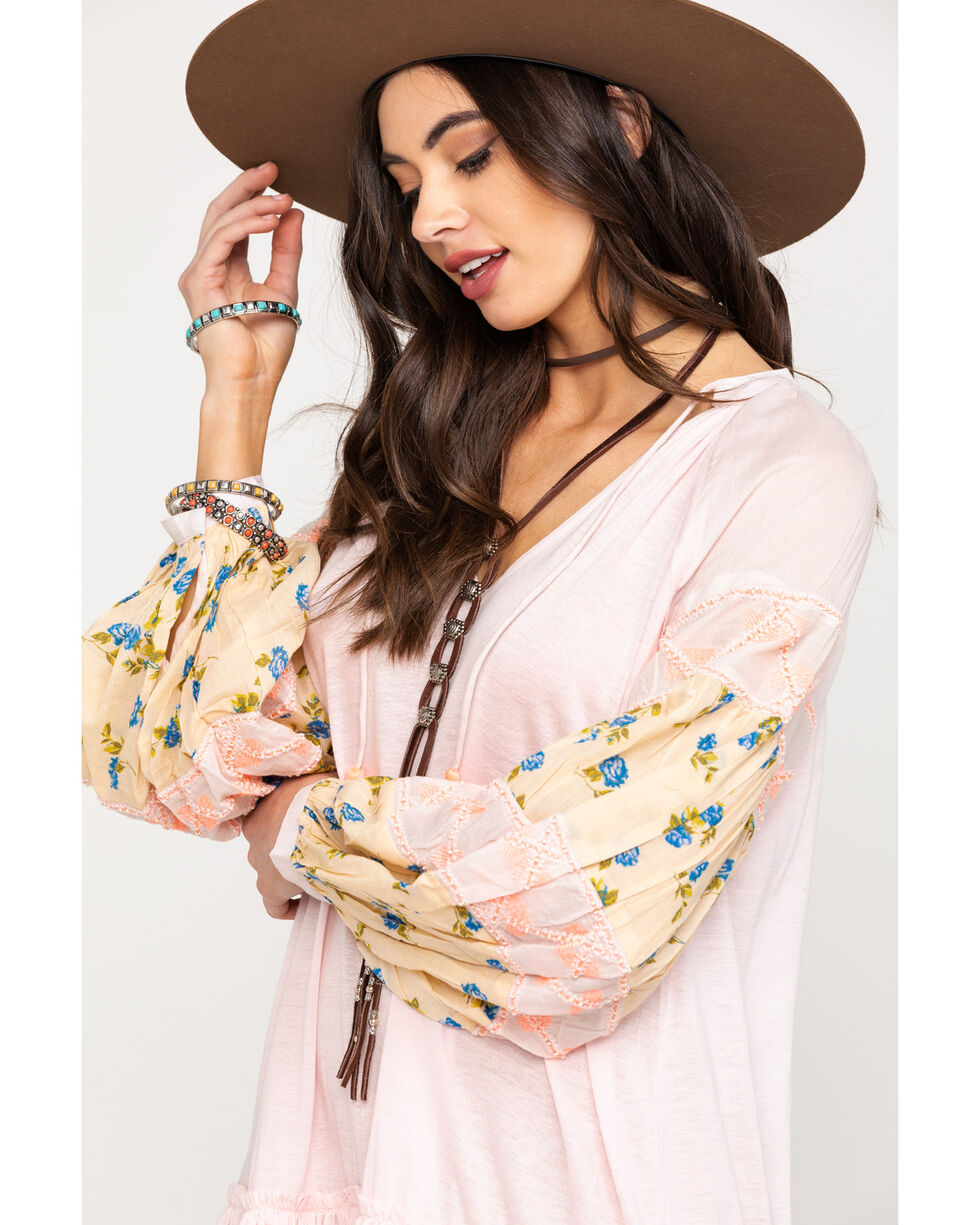 Free People Women's Mix It Up Tunic, Pink, hi-res