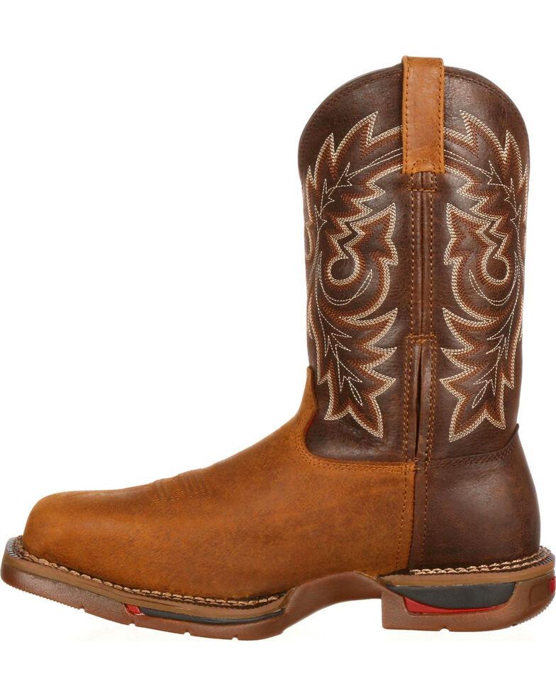 Rocky Men's Long Range Composite Toe Western Boot, Brown, hi-res
