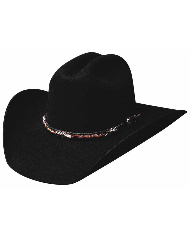 Bullhide Men's Buckaroo 6 X Wool Hat, Black, hi-res