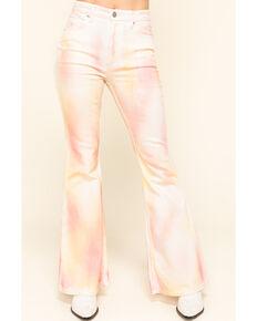 Lee Women's Tie Dye High Rise Flare Jeans , Multi, hi-res
