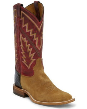 Tony Lama Men's Bingham Western Boots - Square Toe, Red/brown, hi-res