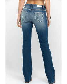 Rock & Roll Cowgirl Women's Medium Vintage Mid-Rise Boot Cut Jeans, Blue, hi-res
