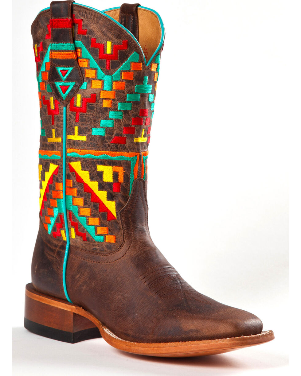 Johnny Ringo Women's Aztec Kaleidoscope Western Boots, Distressed, hi-res
