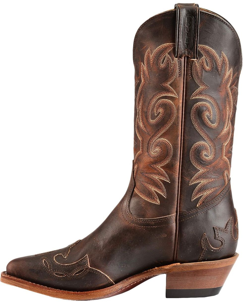 "Boulet Women's 12"" Wing Tip Cowboy Boots, Copper, hi-res"