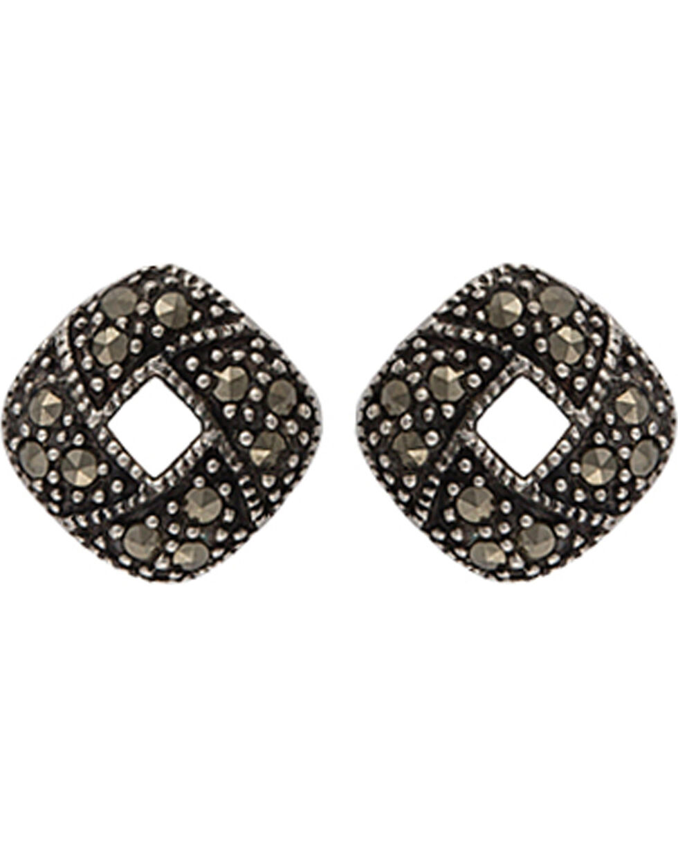 Montana Silversmiths Women's Square Stud Earrings, Antique Silver, hi-res