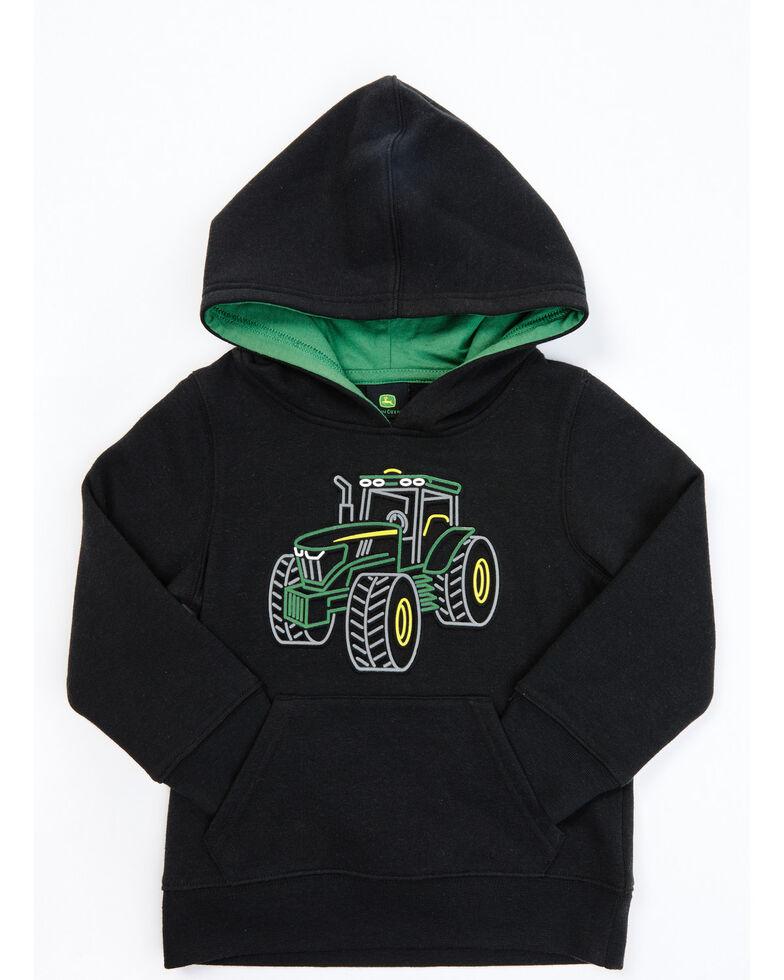 John Deere Toddler Boys' Black & Green Tractor Fleece Pullover Hoodie, Black, hi-res