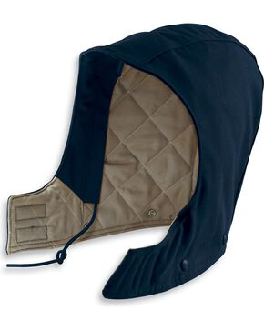 Carhartt Men's Flame Resistant Quilt Lined Duck Hood, Navy, hi-res