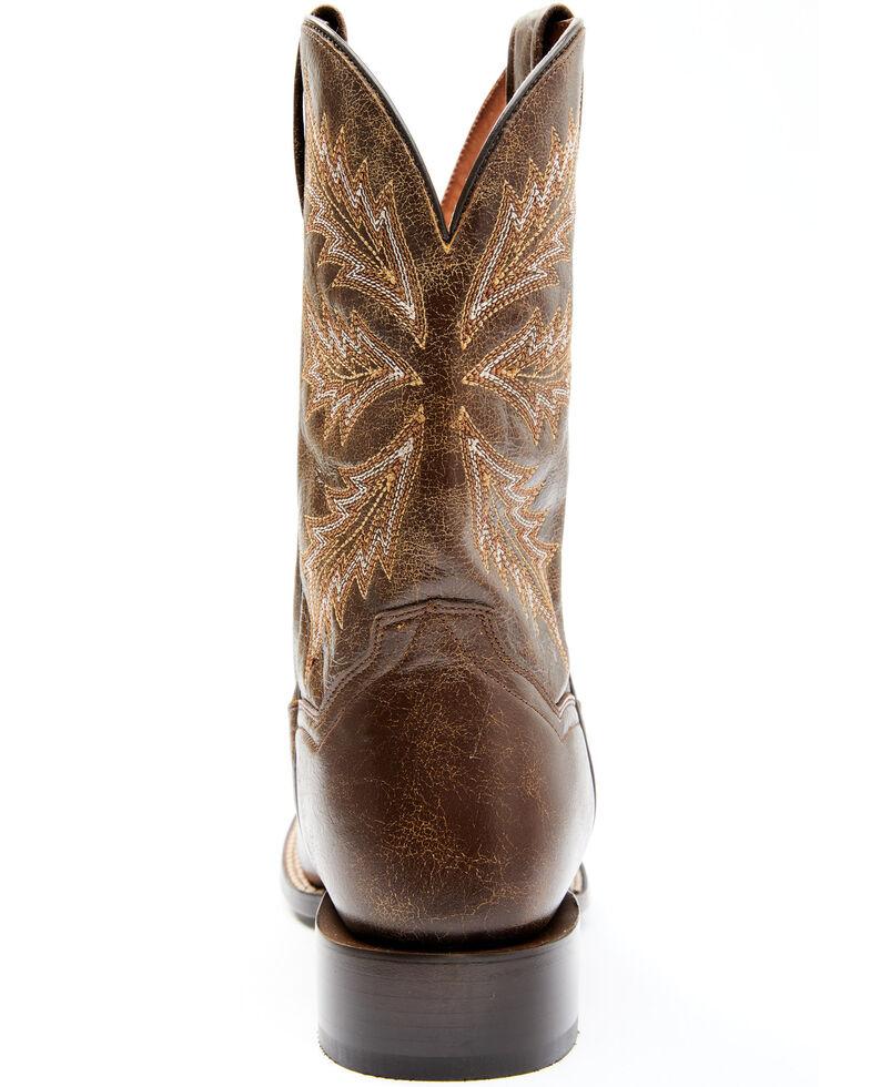 Dan Post Men's Jefferson Western Boots - Wide Square Toe, Chocolate, hi-res